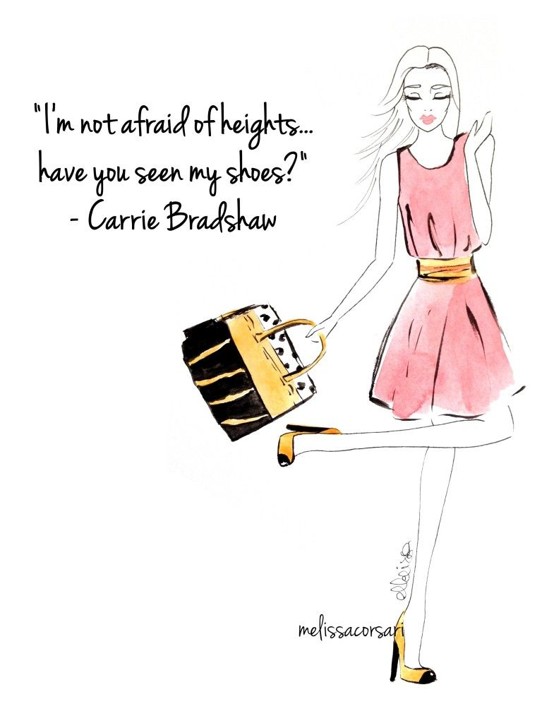Celebrity Quote Series Carrie Bradshaw By Melissa Corsari