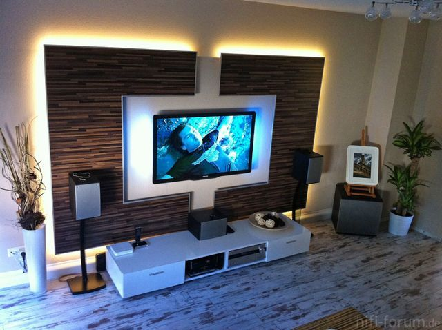 Superior Wohnwand / TV Wand Selbst Gebaut   Teil 1 Laminat,tv Wand,wohnwand,TV  Wandhalterung | Poikien Huone | Pinterest | Wand, TVs And Living Rooms Design