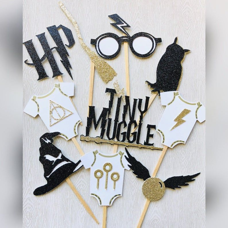 Harry Potter Cupcake toppers Harry potter baby shower