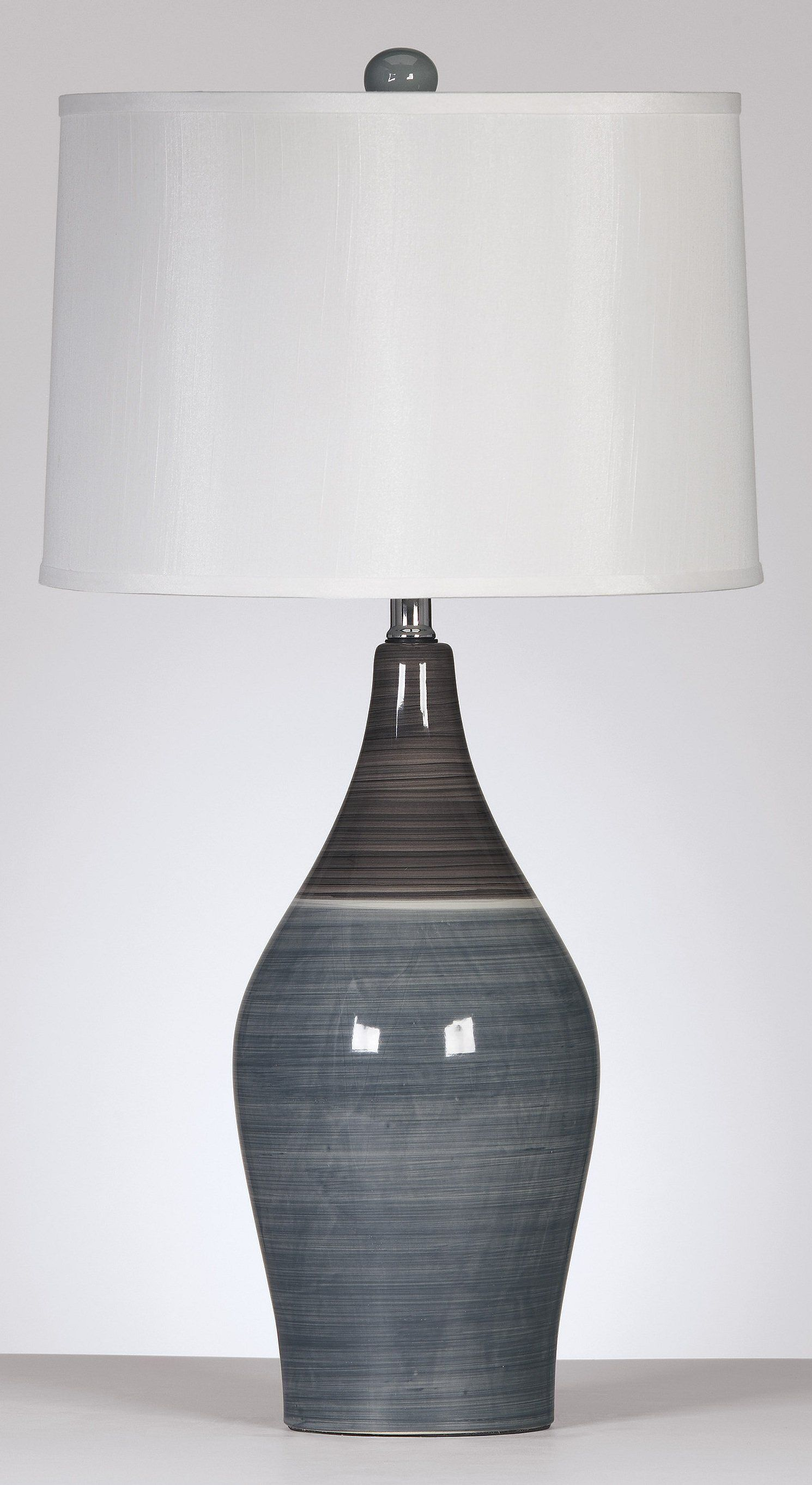 Niobe Ceramic Table Lamp By Ashley Furniture Coming Soon To Kensington S Website Grey Table Lamps Signature Design By Ashley Lampshade Designs
