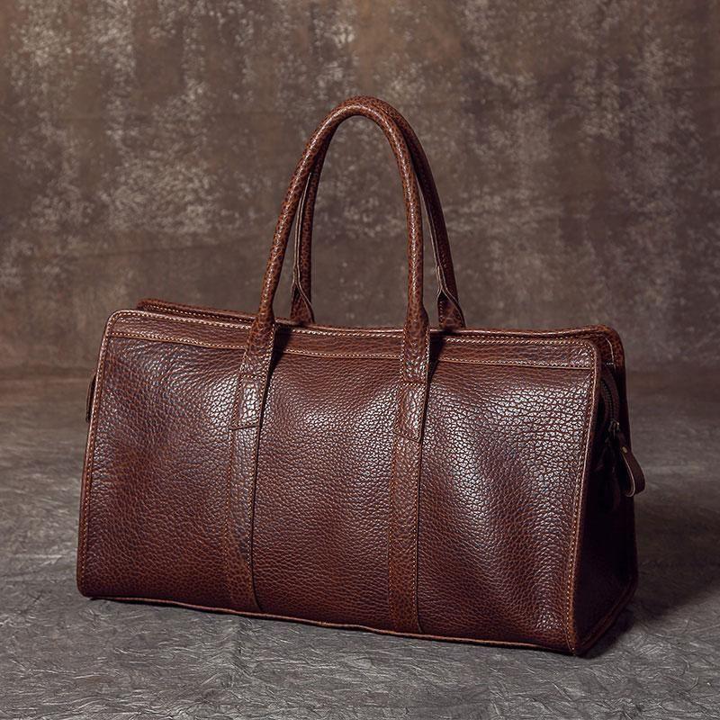 3c4c2e9da860 Genuine Leather Mens Large Travel Bag Cool Duffle Bag Shoulder Bag ...