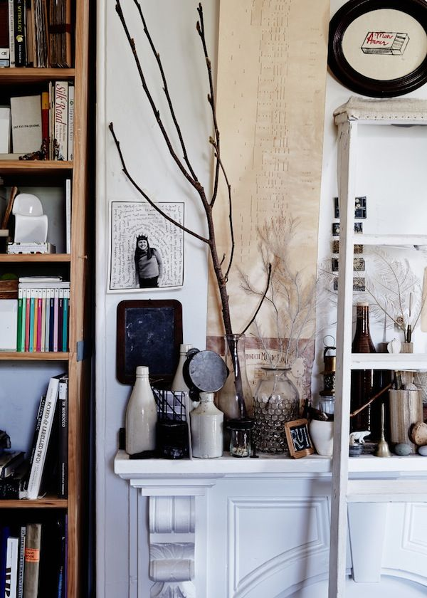 Mantle With Treasures In The Living Room Sydney Home Sibella Court And Ben Harper