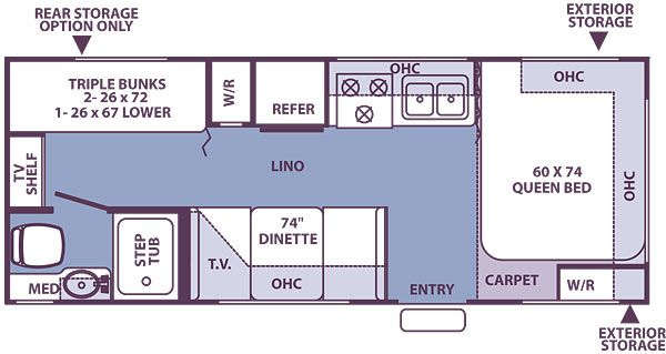 custom 24 ft travel trailer floorplans - Google Search