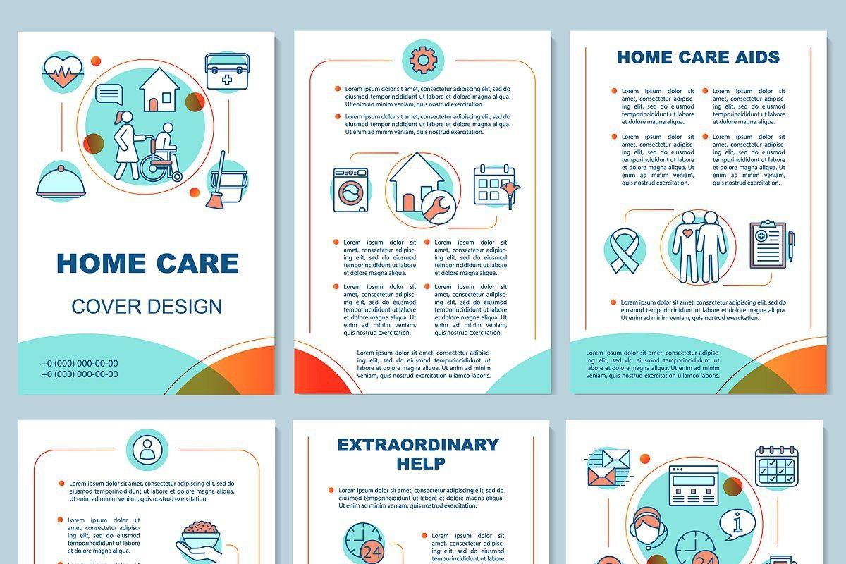 Home health care brochure template Home health care