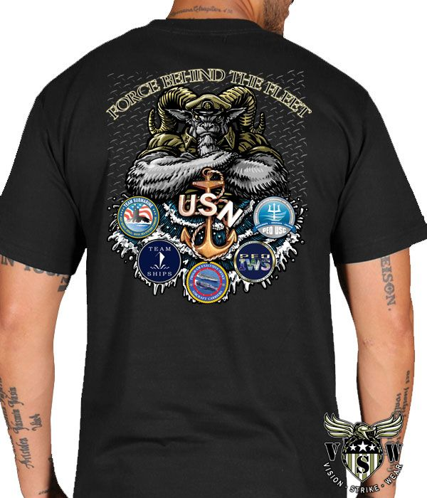 b8140f42 US Navy Custom shirt designed by Vision-Strike-Wear.Com for the US Navy  NAVSEA Chiefs Goat Locker. Designed and printed in full color.