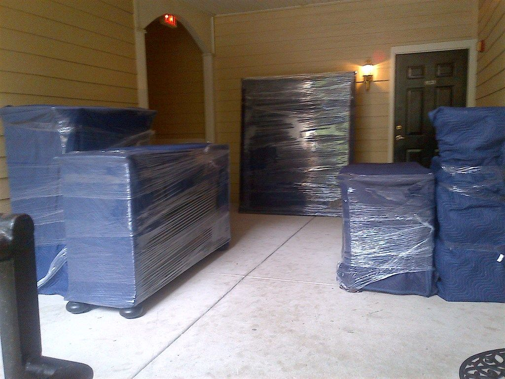 Properly Wrapped Furniture Fit To Be Moved Home For Sale - Moving furniture