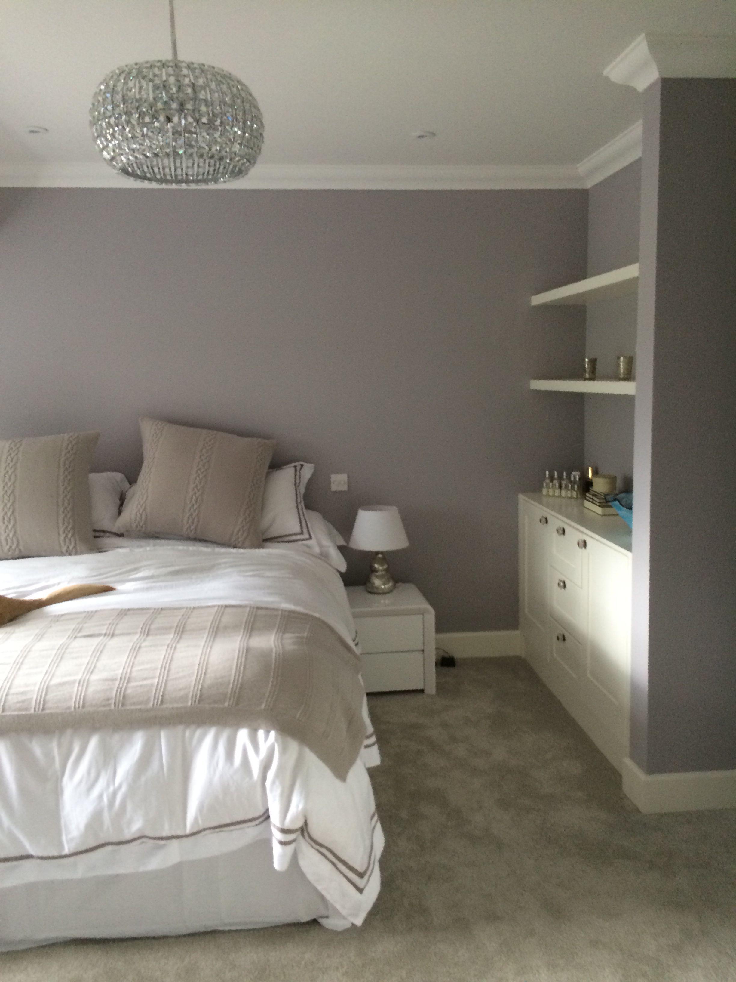 Master Bedroom Painted In Welcome Dark By Little Green Kind