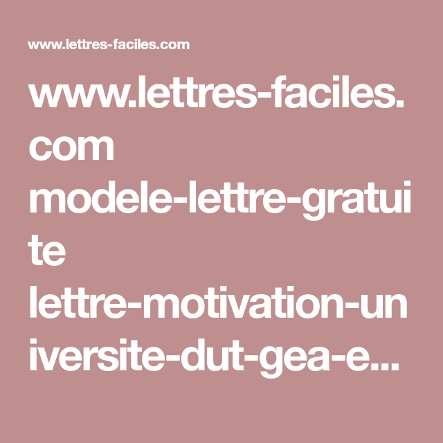 Www Lettres Faciles Com Modele Lettre Gratuite Lettre