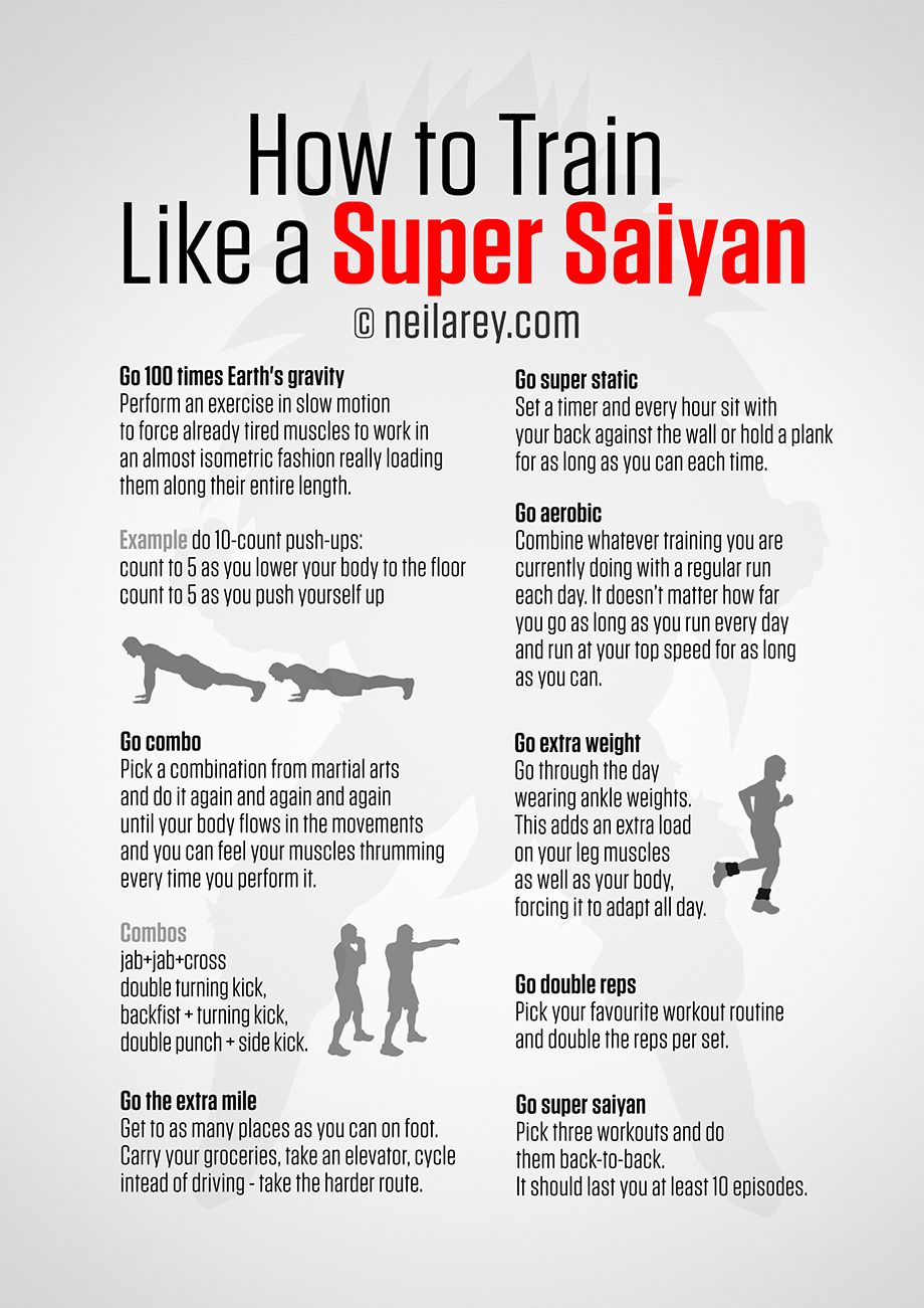 how to train like a super saiyan workout pinterest entra nement exercice et musculation. Black Bedroom Furniture Sets. Home Design Ideas