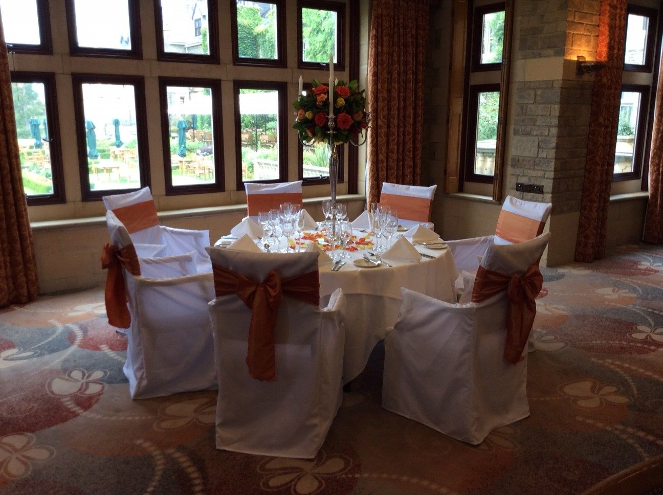 Wedding Chair Cover Hire Brighton Desk And Set For Toddlers South Lodge Hotel Sussex Venue Chairs Covers From Pollen4hire Floral Candelabra Table Centrepiece Flowers Pollen Of
