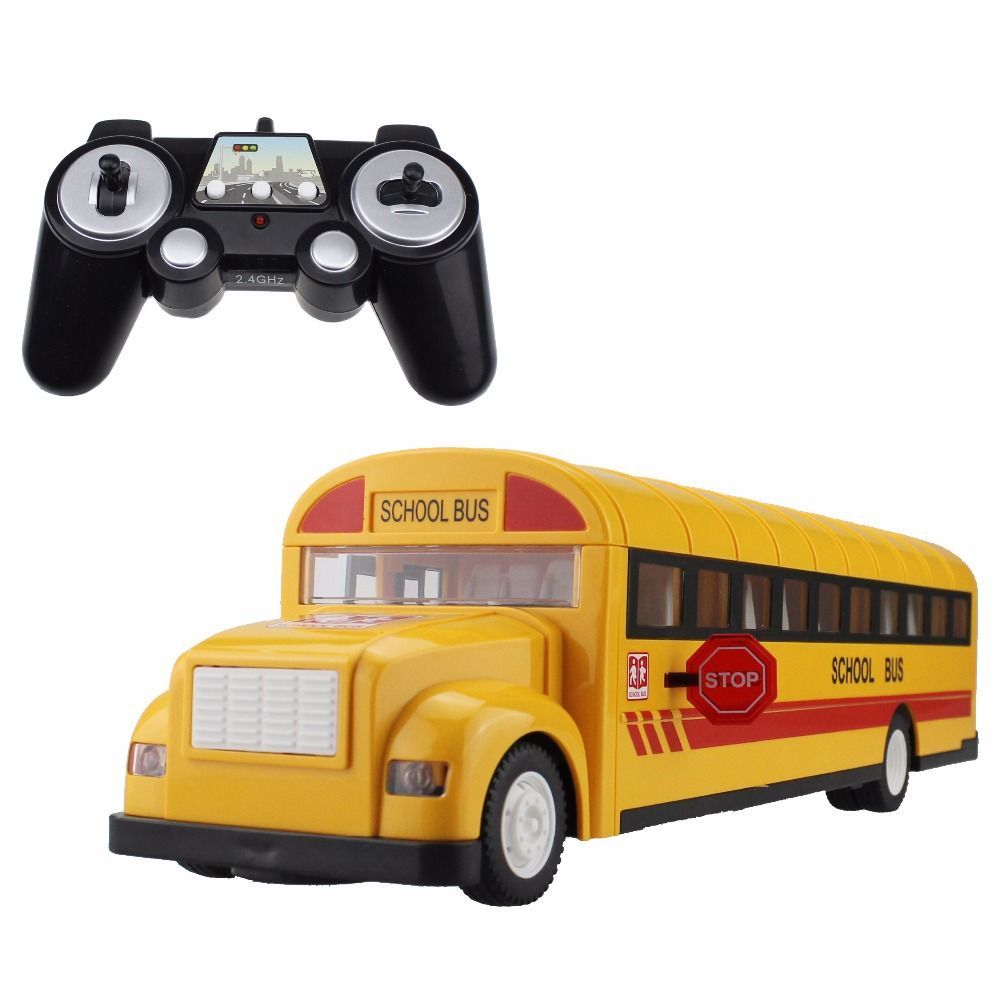 Toys car keys  RC Car School Bus G Remote Control Buses Opening Door One Key