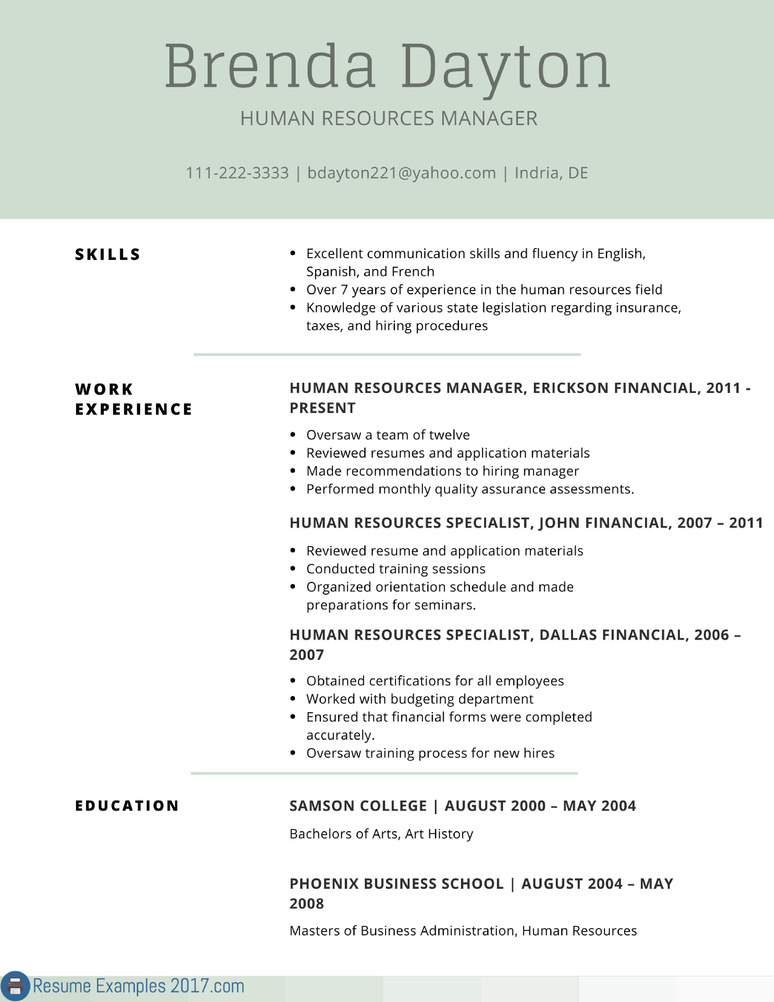 resume format 2017 examples resume format pinterest resume