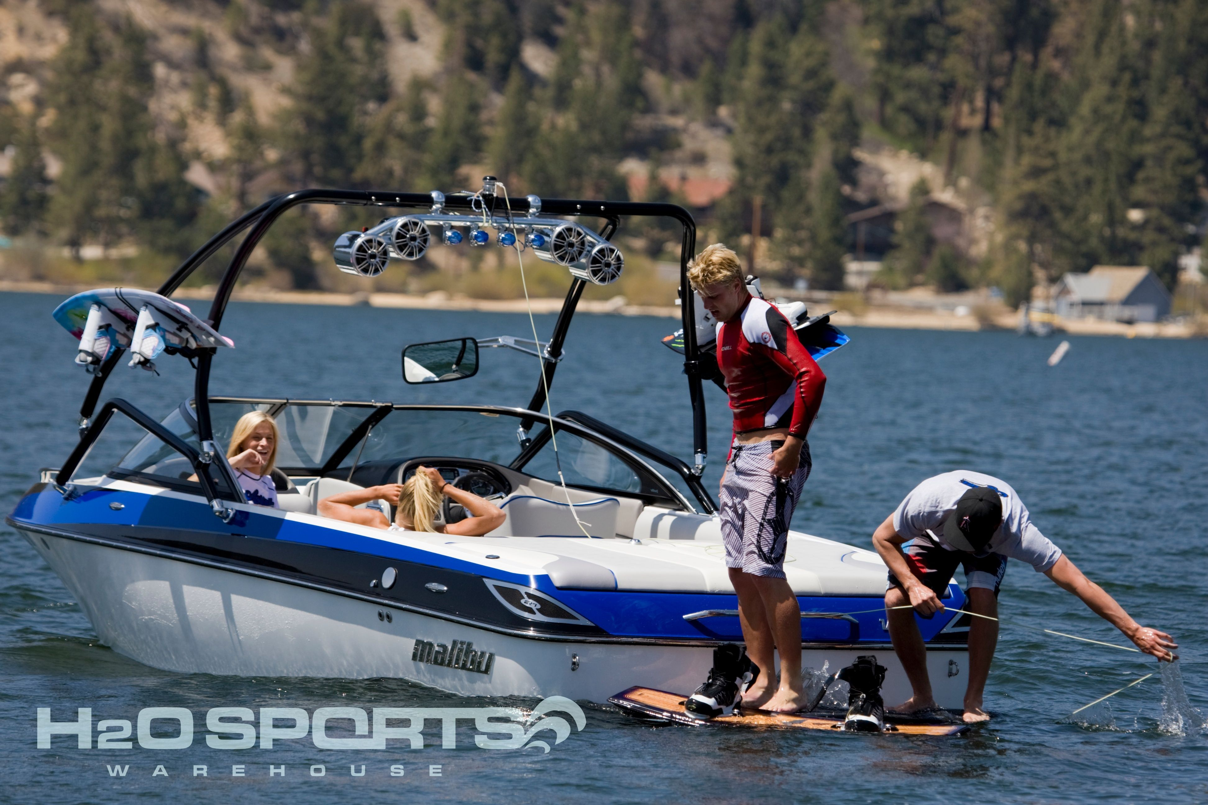 Out on the water wakeboarding with an airborne tower with speaker out on the water wakeboarding with an airborne tower with speaker light bar and wakeboard racks aloadofball Gallery
