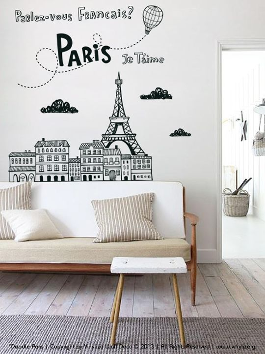 Doodle Paris Wall Sticker Vinylize Deco Http Www