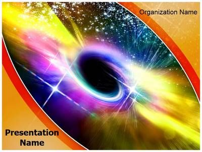 Universe Black Hole Powerpoint Template is one of the best - Science Powerpoint Template