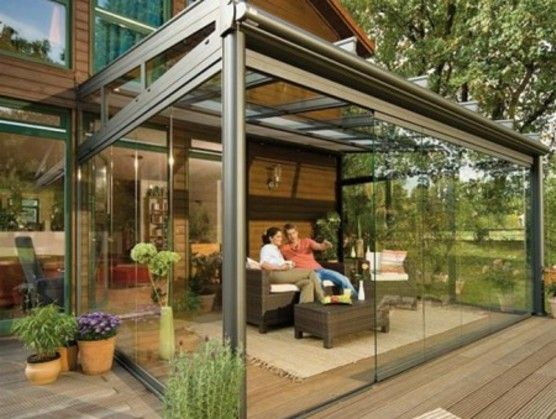 Glass Enclosed Patio Outdoor Patio Designs Backyard Patio Patio Room