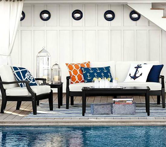 Outdoor Pillows Under 40 Sea Shells Adorable Ocean Critters Beach Bliss Living Modern Outdoor Furniture Indoor Outdoor Pillows Pool Decor