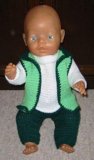 Gehäkelter Pullover für Baby Born - creadoo.com   Moni häkelt ...