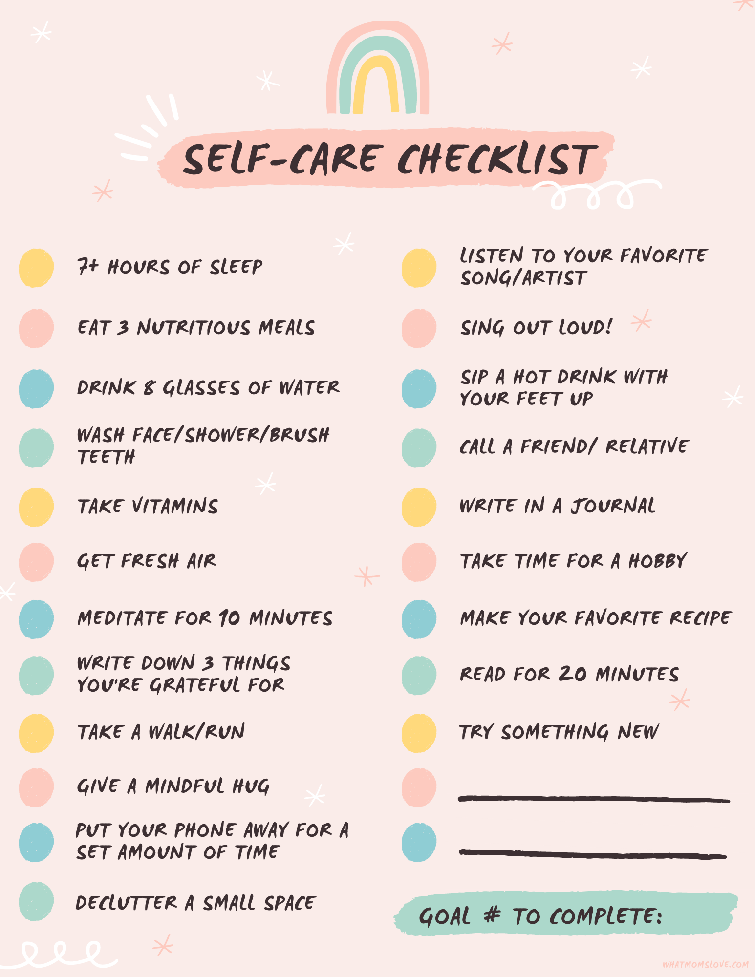 80+ Self-Care Ideas for Moms (with FREE Printable Self-Care Checklist!)