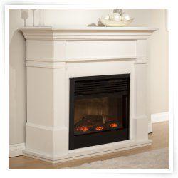 Dimplex Kenton White Electric Fireplace