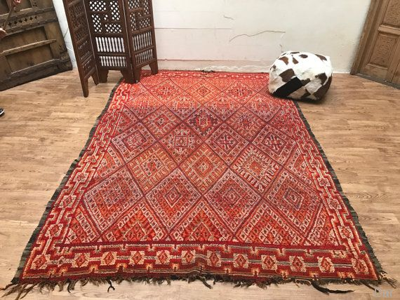 Moroccan OLD berber rug 7x10 Authentic OLD berber handmade vintage ...