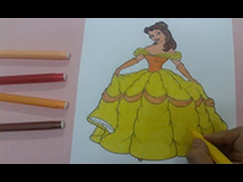 disney princess coloring pages : How to color princess belle ...