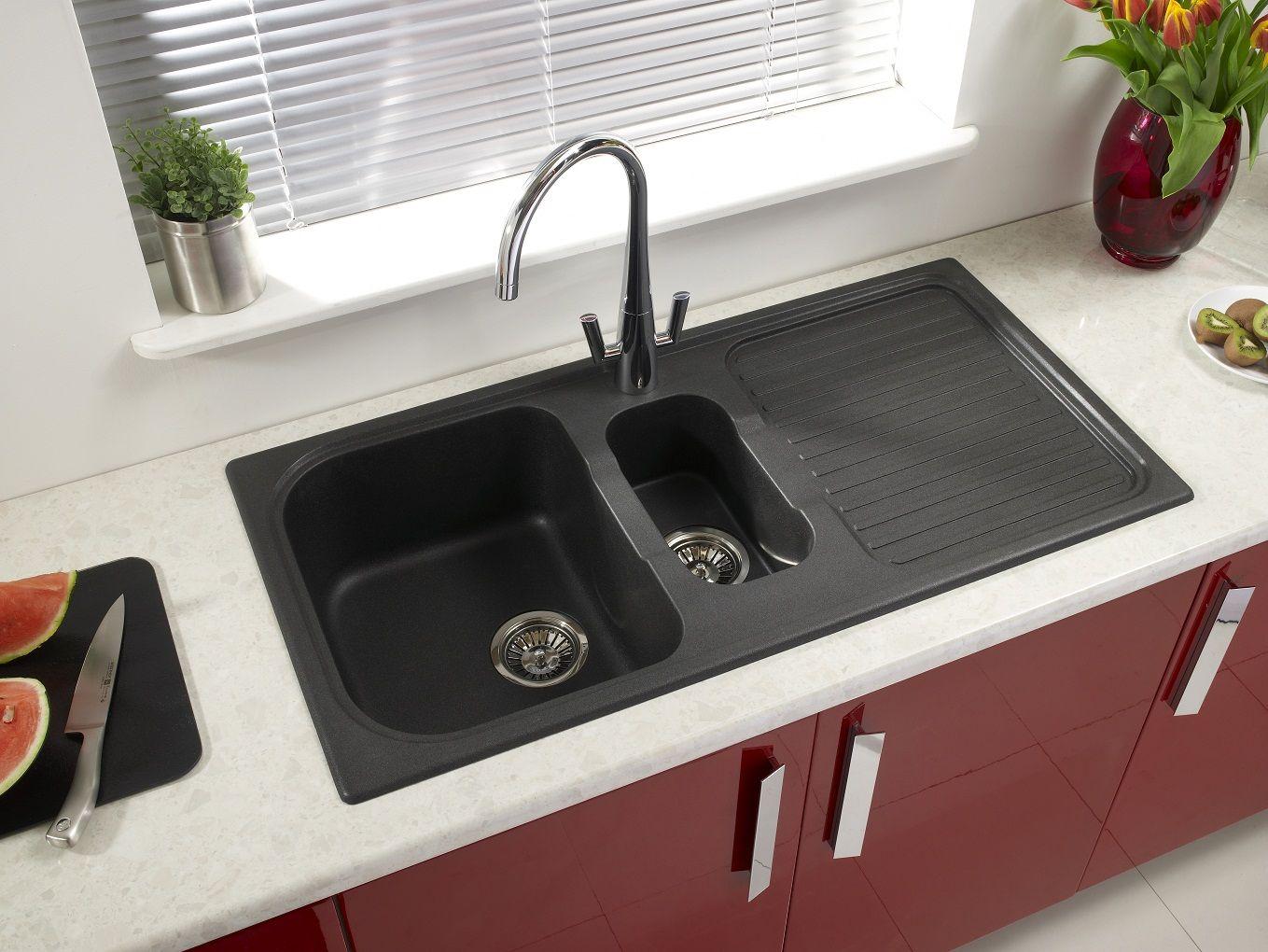 Tuscan Sinks Granite Black 1 5b Composite Kitchen Sinks Black