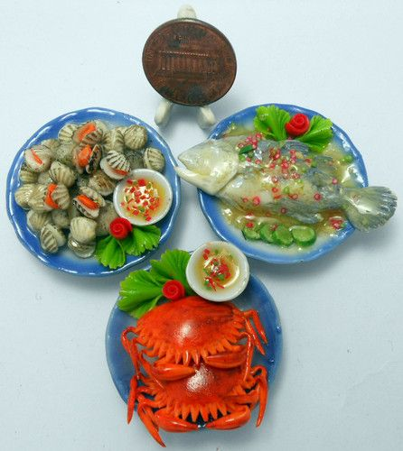 Barbie Food Lovely Mixed 5 Assorted Dollhouse Miniature Seafood,Tiny Food