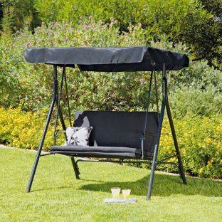 2 Seater Garden Swing Chair Black At Argos Co Uk Your Online For Hammocks And Seats