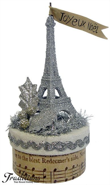 Joyeux Noel I could so do this, already have the glitter eiffel