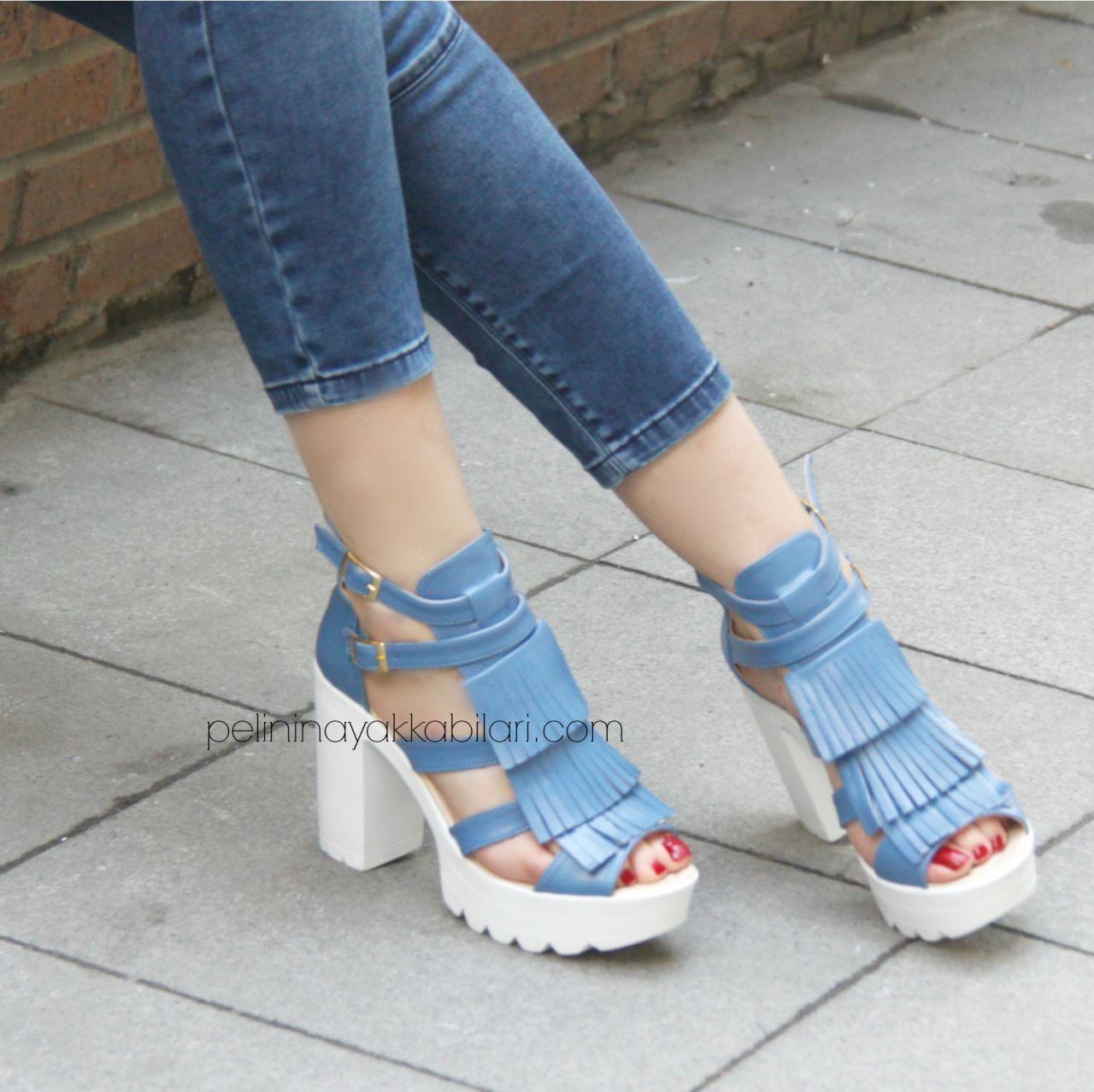 Yazlık 2017 Kısa Topuklu Ayakkabı Modelleri