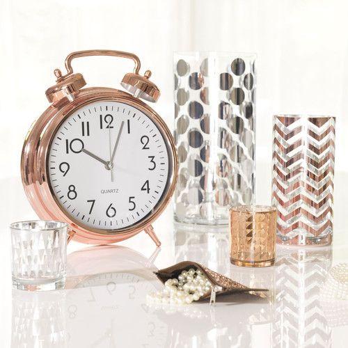 Vase en verre zig zag copper maisons du monde copper for Maison du monde 5 bd montmartre