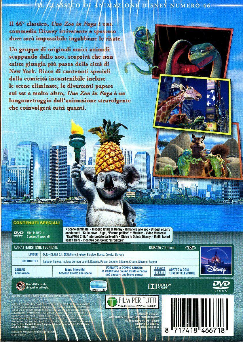 Uno Zoo In Fuga Collection 2015 Dvd Fuga Zoo Uno Dvd Zoo Animazione Disney Dvd