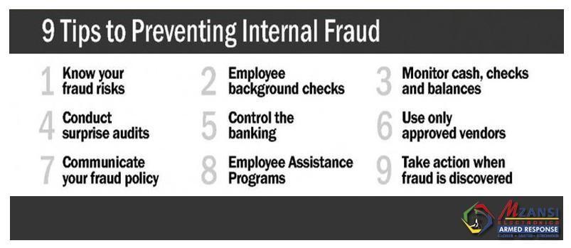 Internal fraud check and balance security tips