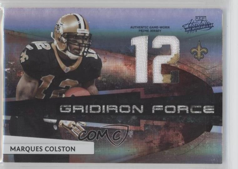 31e3bdba2 2009 Playoff Absolute Memorabilia  16 Marques Colston New Orleans Saints  Card