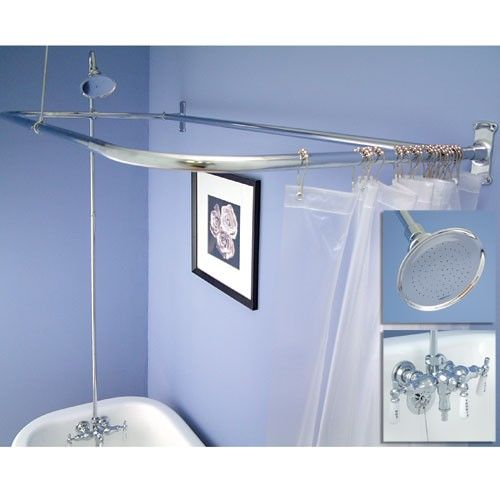 Great Clawfoot Tub Shower Conversion Kit   D Style Shower Ring