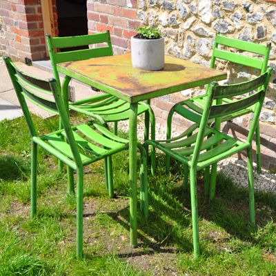 Green · Lime Green Vintage French Cafe Table ...