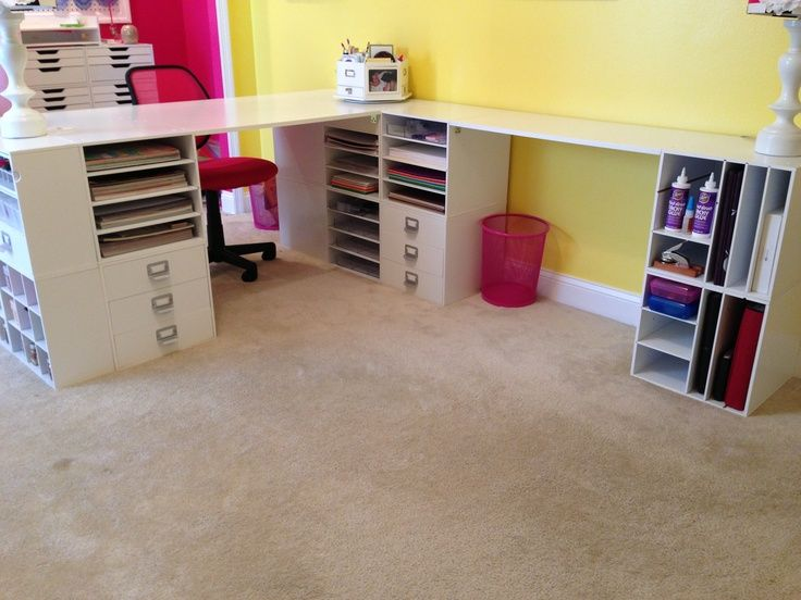 Scrapbook Desk Scrapbooking Craft Room Desk With Tons Of