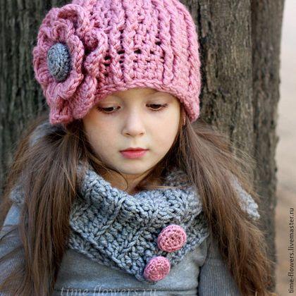 Одежда для девочек, ручной работы. Ярмарка Мастеров - ручная работа Вязаный комплект «Raspberry». Handmade.