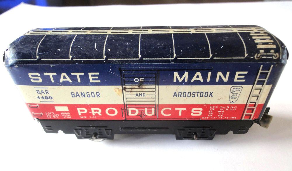 Vintage Marx Mar Lines Model Tin Litho Train Car State of