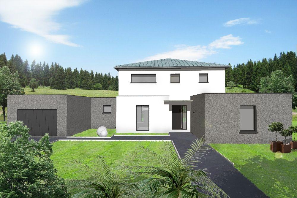 plans de maisons avec chambre au rez de chaussee et garage double - plans de maison moderne