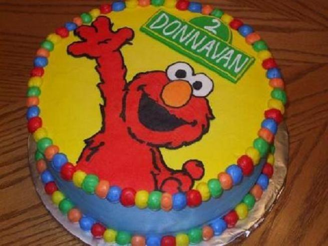 sesame street Elmo birthday cake Jacks 2nd Birthday