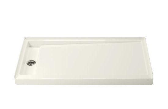 """Kohler K-9949 Groove 60"""" x 32"""" Shower Receptor Left-Hand Drain White Showers Shower Pans Floor Mount"""