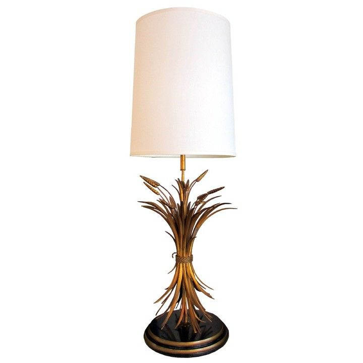 Hollywood Regency Wheat Sheaf Table Lamp From Trebor Nevets For 995 On Square Market With Images Lamp Table Lamp Table