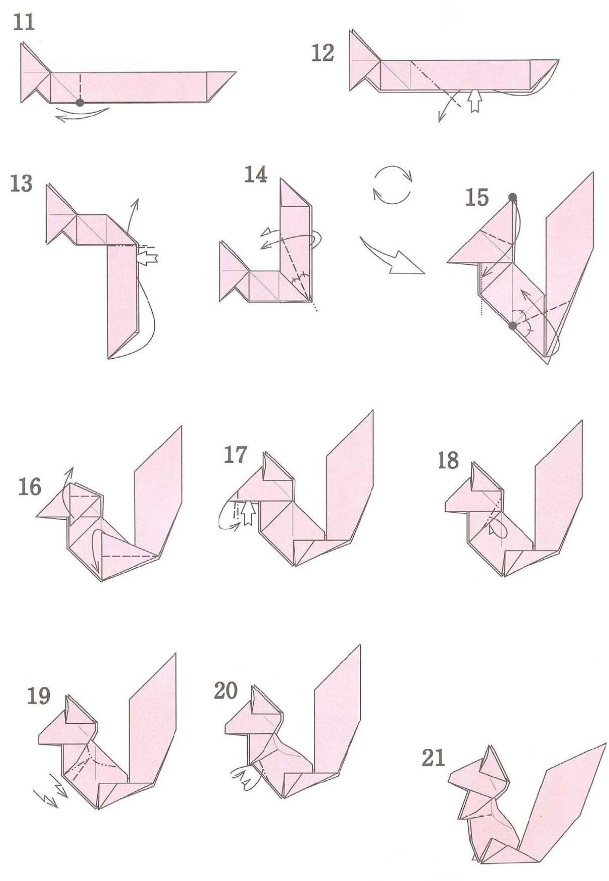 Марта рисунок, оригами из бумаги картинки по этапно