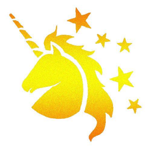 Test Iklan Baru: Unicorn Glitter Tattoo | Unicorn stencil