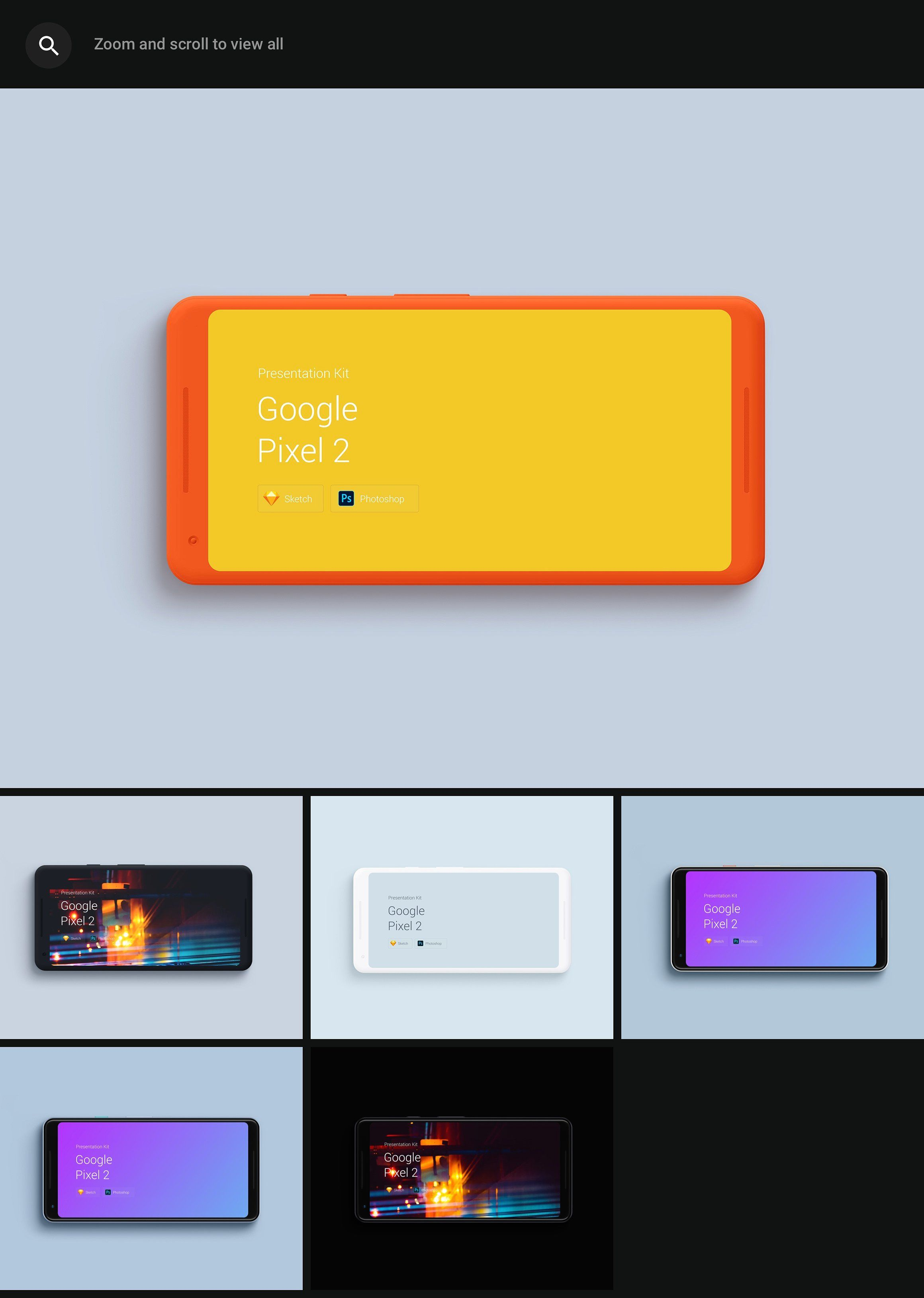 Google Pixel 2 Mockups Presentatio Good presentation