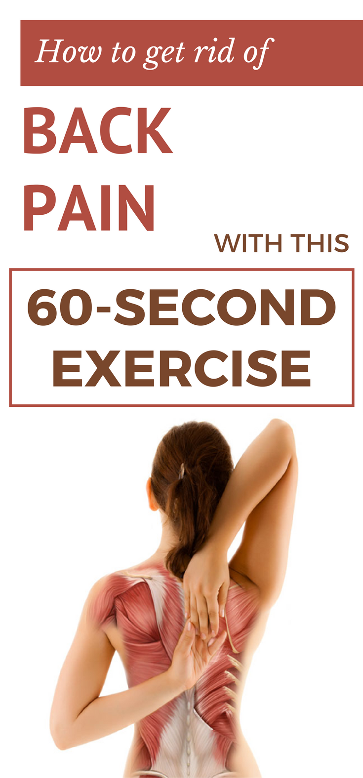 how to get rid of back pain with this 60 second exercise hip flexor