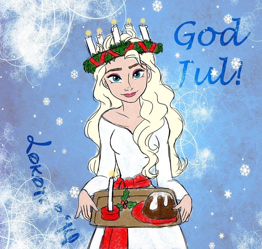 St. Lucia Day Elsa for Christmas Disney elsa, Disney