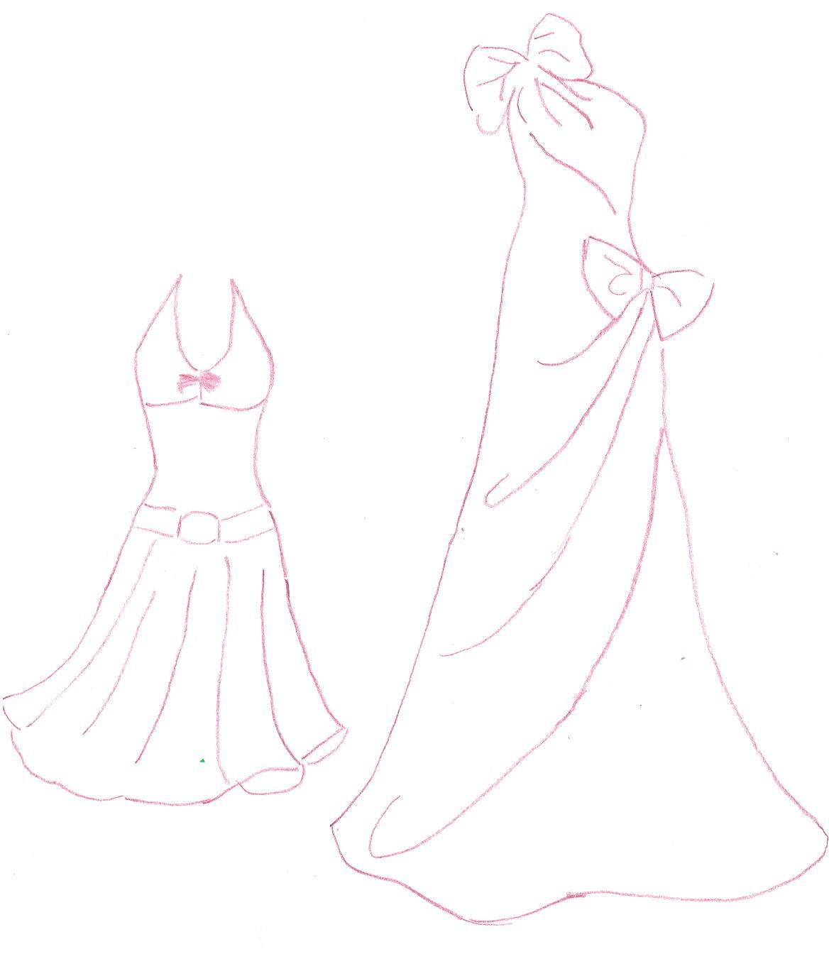 How To Draw Easy Barbie Dresses
